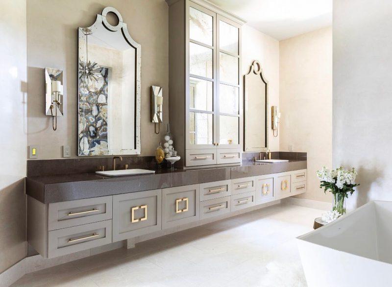 Acacius Mirror Staged in Bathroom