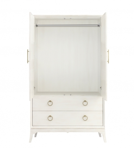 Bennett Armoire - White Open View