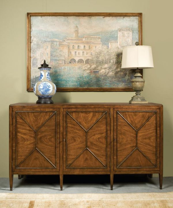 British Cabinet in Mahogany- Staged