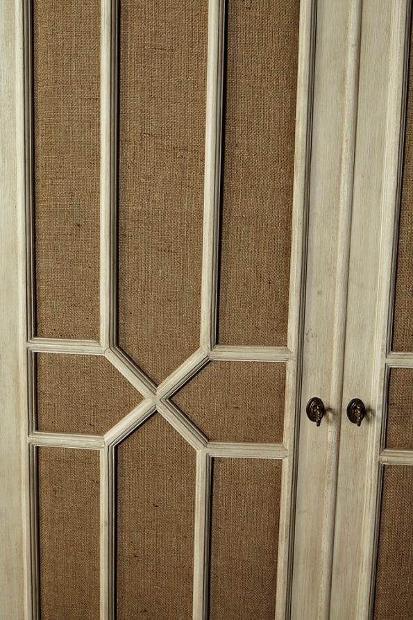 Burlap Armoire - Detail View