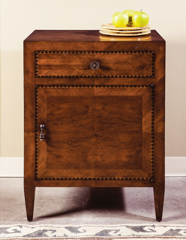 Cherry Italian Inlay Cabinet - Staged