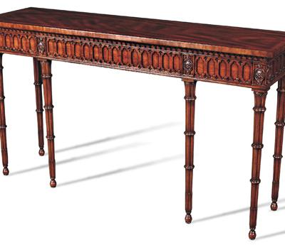 Crotch Mahogany Console Table