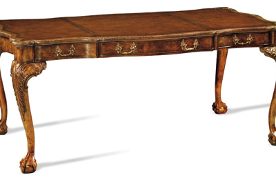 Curved-Leg Writing Desk