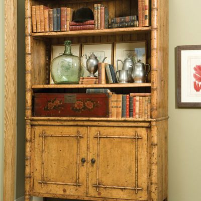 English Bamboo Bookcase