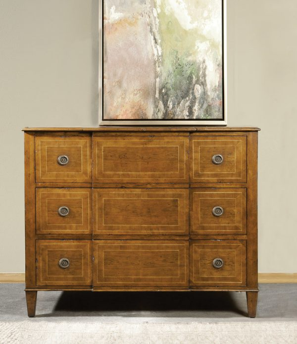 French Breakfront Inlay Chest - Staged