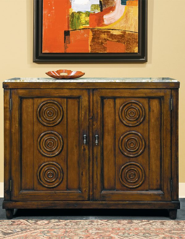 French Cabinet in Cherry with Marble Top