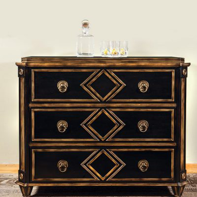French Chest Black Gilded