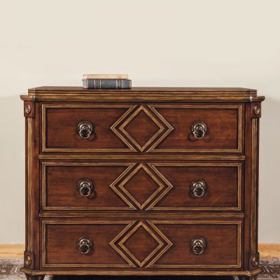 French Mahogany Gilded Chest