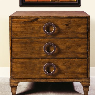 French Walnut 3-Drawer Chest