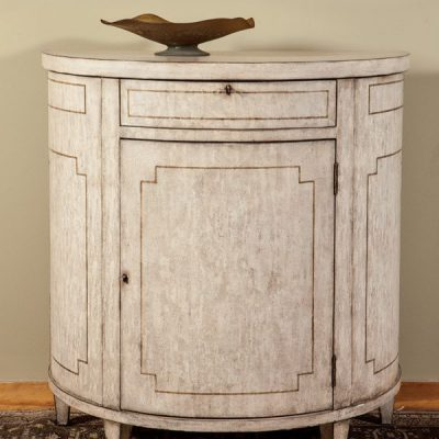 Grisailles French Demilune Cabinet