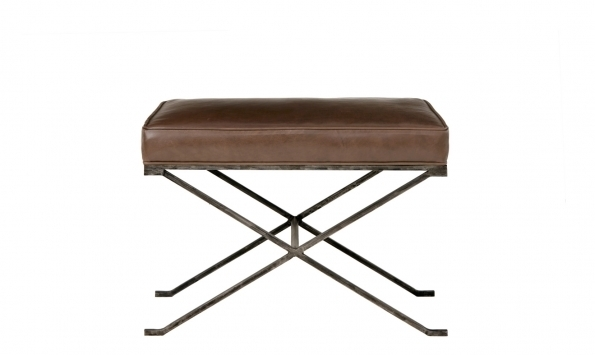 Haven Bench - Metal, Brown