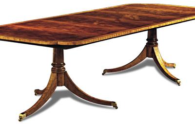 Crotch Mahogany Dining Table
