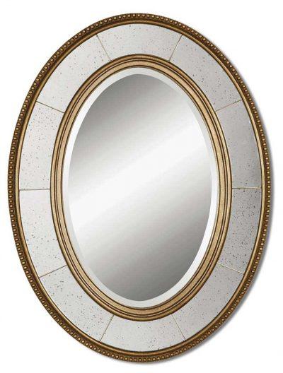 Lara Oval Champagne Mirror