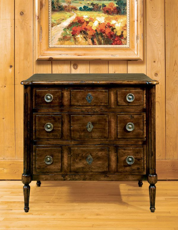 Louis XVI Oak Chest, Handplaned Solid Oak