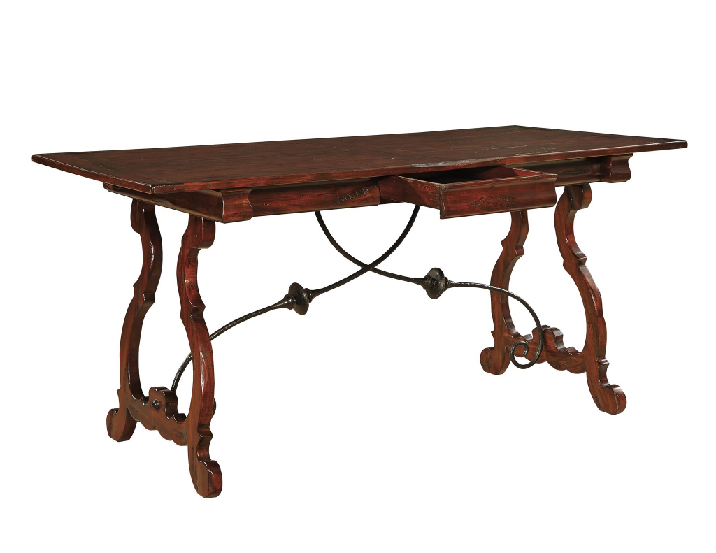 Madeira Desk with plank top - drawer open
