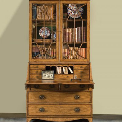Mahogany Bureau Artisan Finish Bookcase