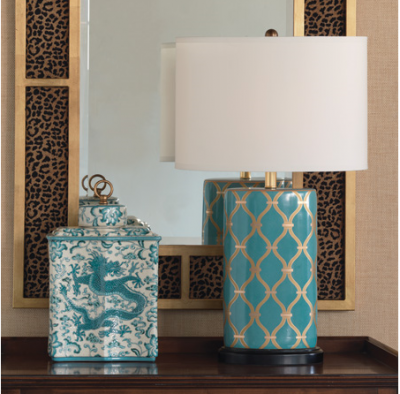Mateo Peacock Lamp - Staged