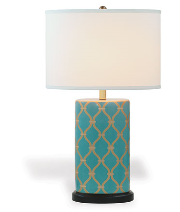 Mateo Peacock Lamp - Side View