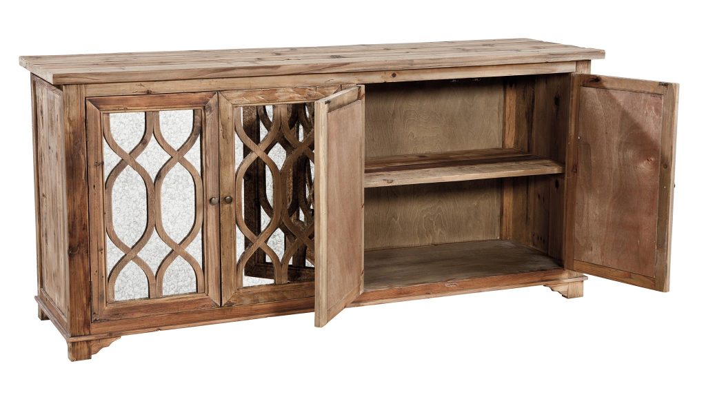 Mirrored Sideboard - open