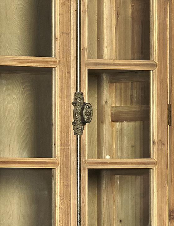 Natural Old Pine Bookcase - Detail View