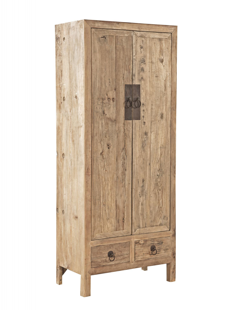 Old Elm Door Armoire
