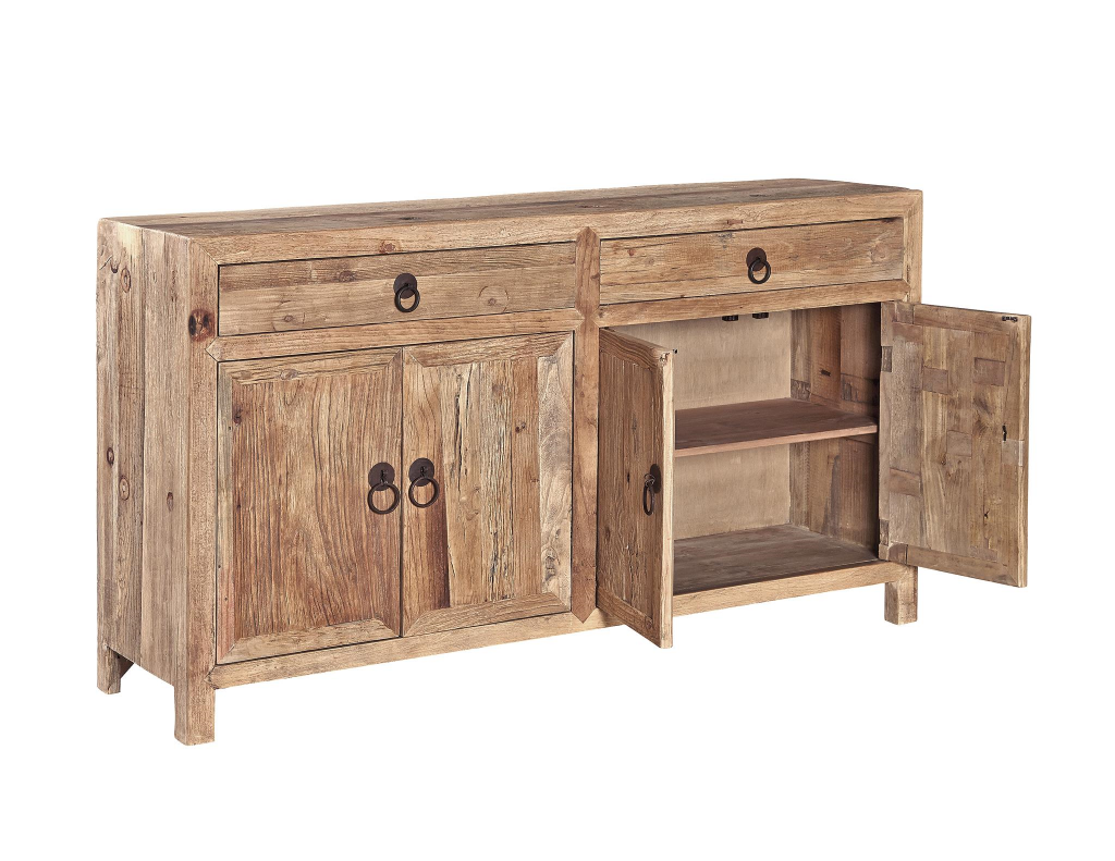 Old Elm Sideboard - Open View
