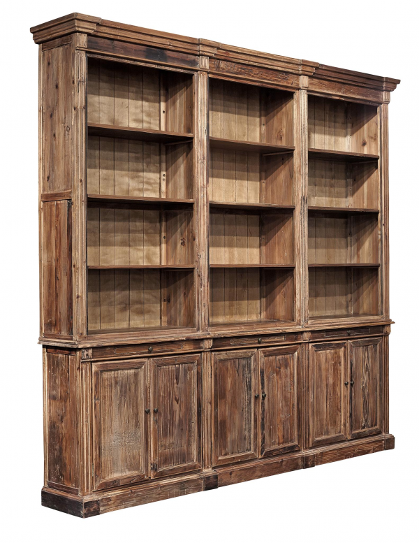 Old Fir Grand Bookcase