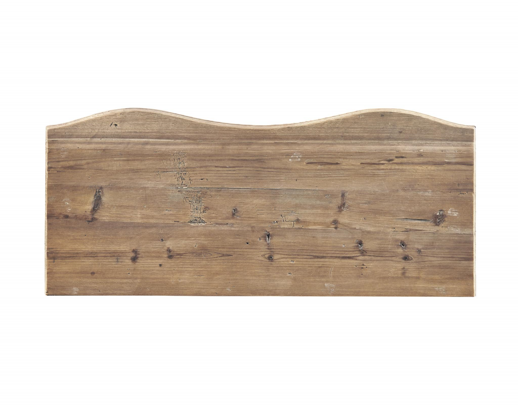 Pine Bowfront Chest - Top