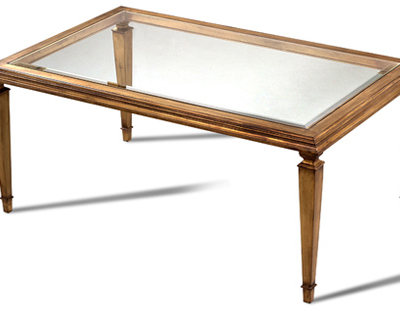 Rectangle Glass-Top Cocktail Table
