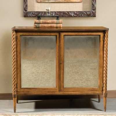 Regency Antique Mirrored Cabinet in Artisan Mahogany