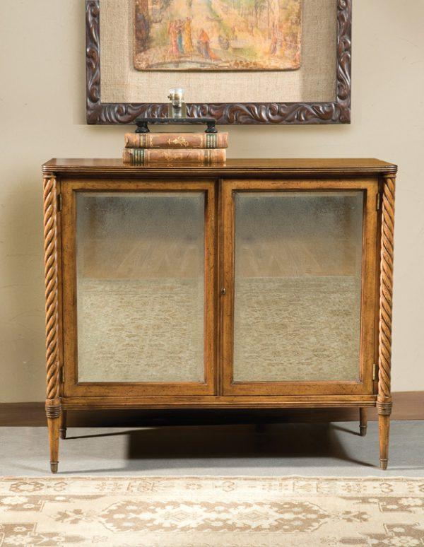 Regency Antique Mirrored Cabinet in Artisan Mahogany