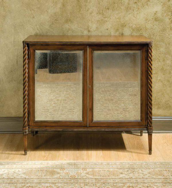 Regency Antique Mirrored Cabinet in Mahogany