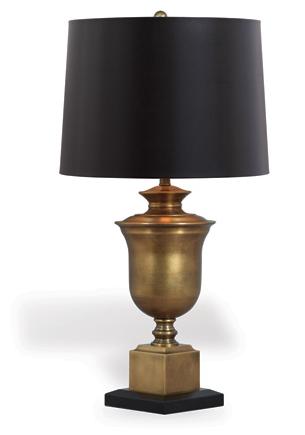 Robertson Brass Lamp - Side View