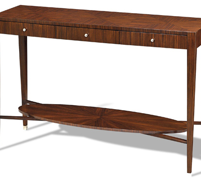 Rosewood Veneer Console Table