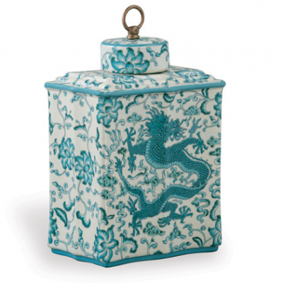 Scalamandre Chi'en Tea Caddy