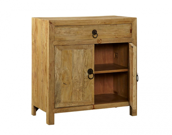 Single Old Elm Cabinet - Open View