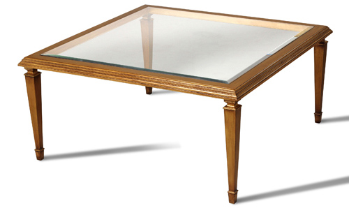 Square Glass-Top Cocktail Table