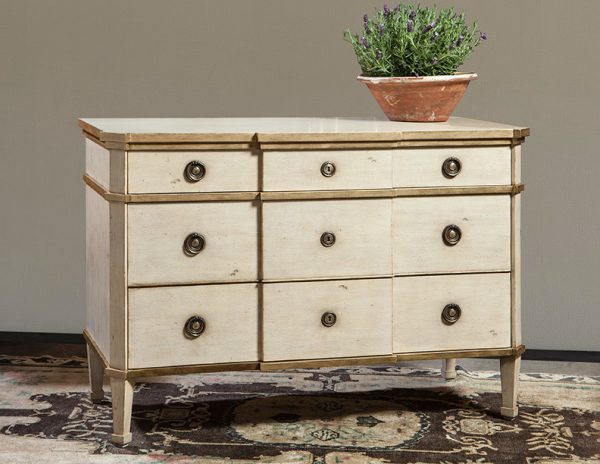 3-Drawer French Chest - Staged