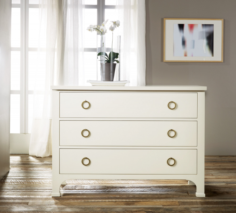 Three Drawer Painted Commode - Staged