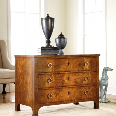 3-Drawer Walnut Commode