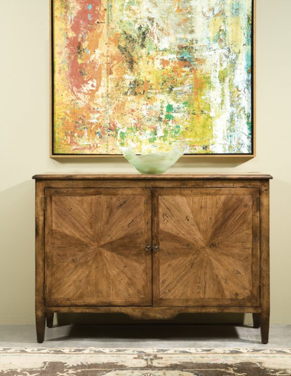 Transitional Dutch Knotty Pecan Cabinet