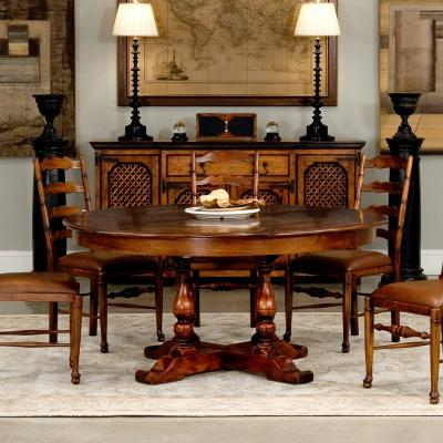 Walnut Jupe Dining Table - Staged 2