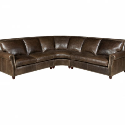 3-Pc Leather Sectional Sofa – Left Loveseat