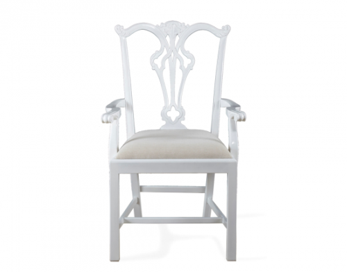 Arm Chair - White , Front view
