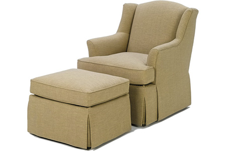 Audrey Chair and Ottoman