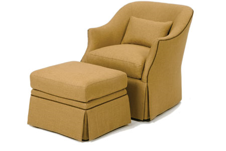 Austen Chair and Ottoman