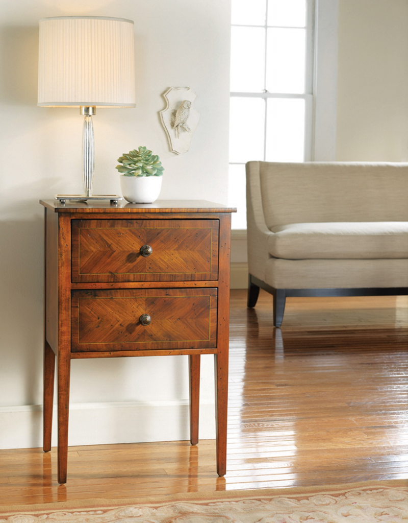 Continental Two-Drawer Stand - Staged