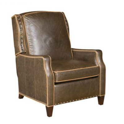 Contrast Trim Leather Electric Recliner