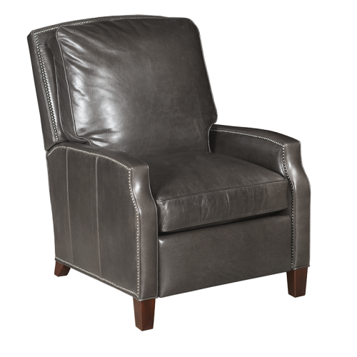 Gray Leather Electric Recliner