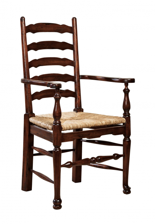 English Country Ladderback Arm Chair